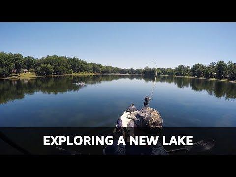 FISHING NEW LAKE WITH CABELA'S 5 INCH SWIM MINNOWS