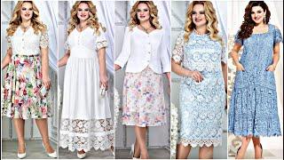 КРУЖЕВНЫЕ ПЛАТЬЯ Летняя женская одежда для ПОЛНЫХ женщин Белорусский трикотаж