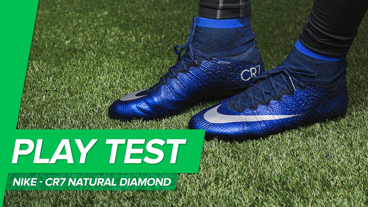 534905ac6 Nike Mercurial Superfly CR7 Natural Diamond Play Test - YouTube