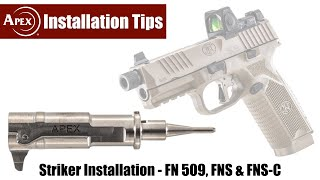 How To Install The Apex Striker In The FN 509, FNS & FNS-C