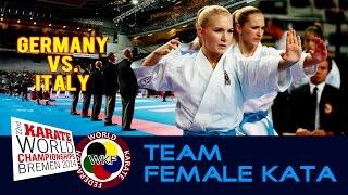 Kata Team Female GER vs. ITA World Karate Championships Bremen 2014