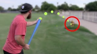 BASEBALL GOLF WITH A BLITZBALL! *CRAZY SHOTS* | IRL Baseball Challenge