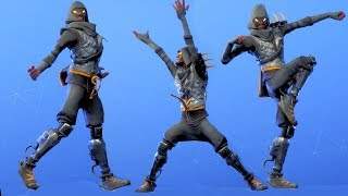 Fortnite All Dances Season 1-5 with Cloaked Star Updated to Hitchhiker NEW OUTFIT