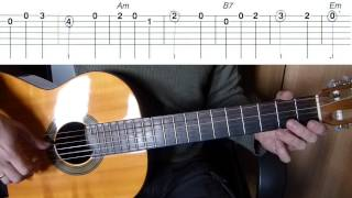 На сопках Маньчжурии на гитаре + табы