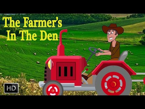 The Farmer's In The Den  - Popular NURSERY RHYMES FOR KIDS - Animated Rhymes