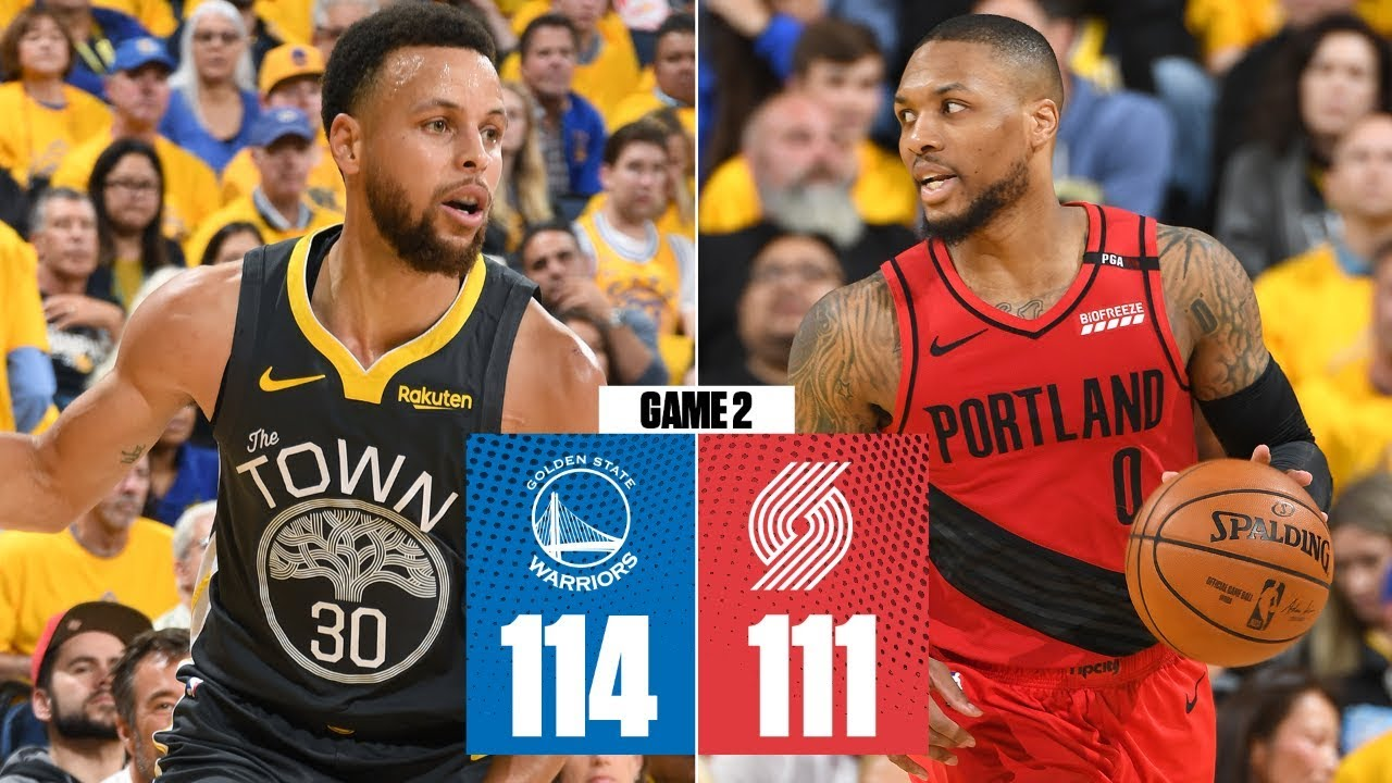 Steph Curry, Warriors storm past Blazers to take 2-0 series lead | 2019 NBA Playoffs Highlights