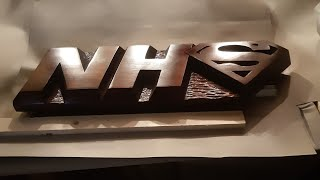 #57 Hand carved Nhs plaque - Inspired by Carved by hand | Create 2 make