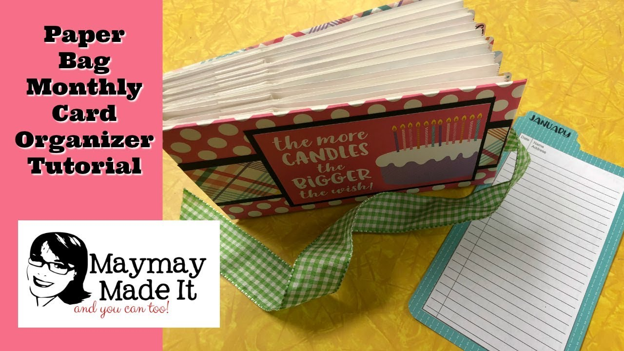 Monthly Birthday Card Organizerstorage Album Tutorial Youtube