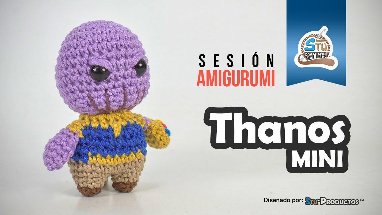 Free crochet amigurumi snuggle pattern of Marvel Thanos | 720x1280