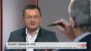 Janusz Jankowiak z Polskiej Rady Biznesu na temat zmian w OFE (INFOrozmowa TVP Info, 04.11.2013)