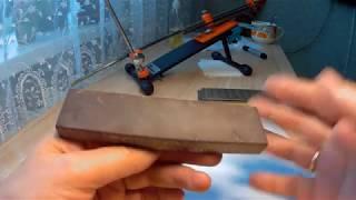 Природный точильный камень - Бордовый сланец из Калининграда. Обзор