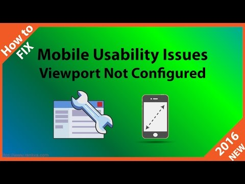 How To Fix Mobile Usability Viewport Not Configured Issues