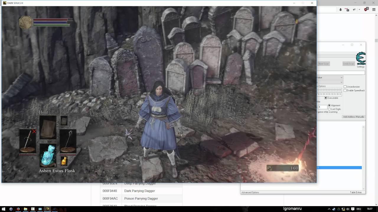 mejores ofertas en calidad estable mejor barato Dark Souls 3 - CE table tutorial - Swap/Spawn items