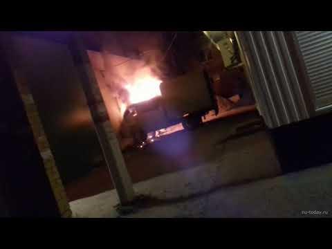 Пожар на улице Дорожной в Новой Усмани