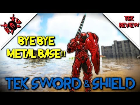 ARK: TEK SWORD & SHIELD! TOO OVERPOWERED?? Patch 270 Tek Review!