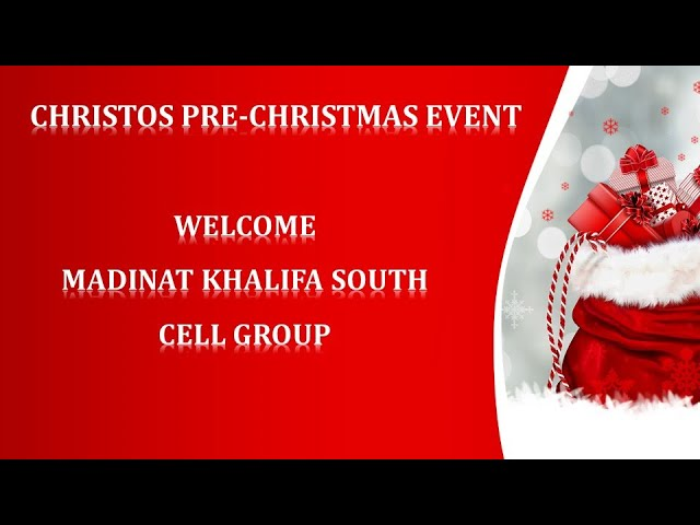 BTAG-Christos Pre-Christmas Event-Madhina Khalifa South Cell Group