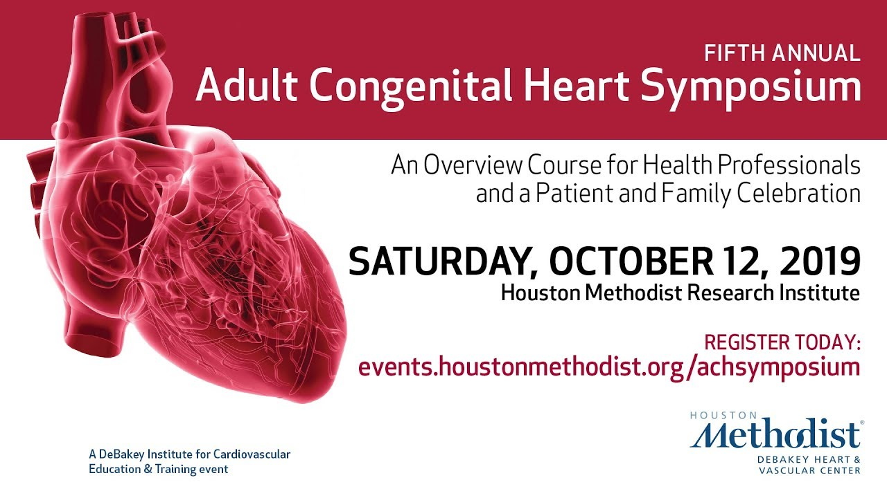 Adult Congenital Heart Symposium - 2019 Conference Invitation | October 12,  2019