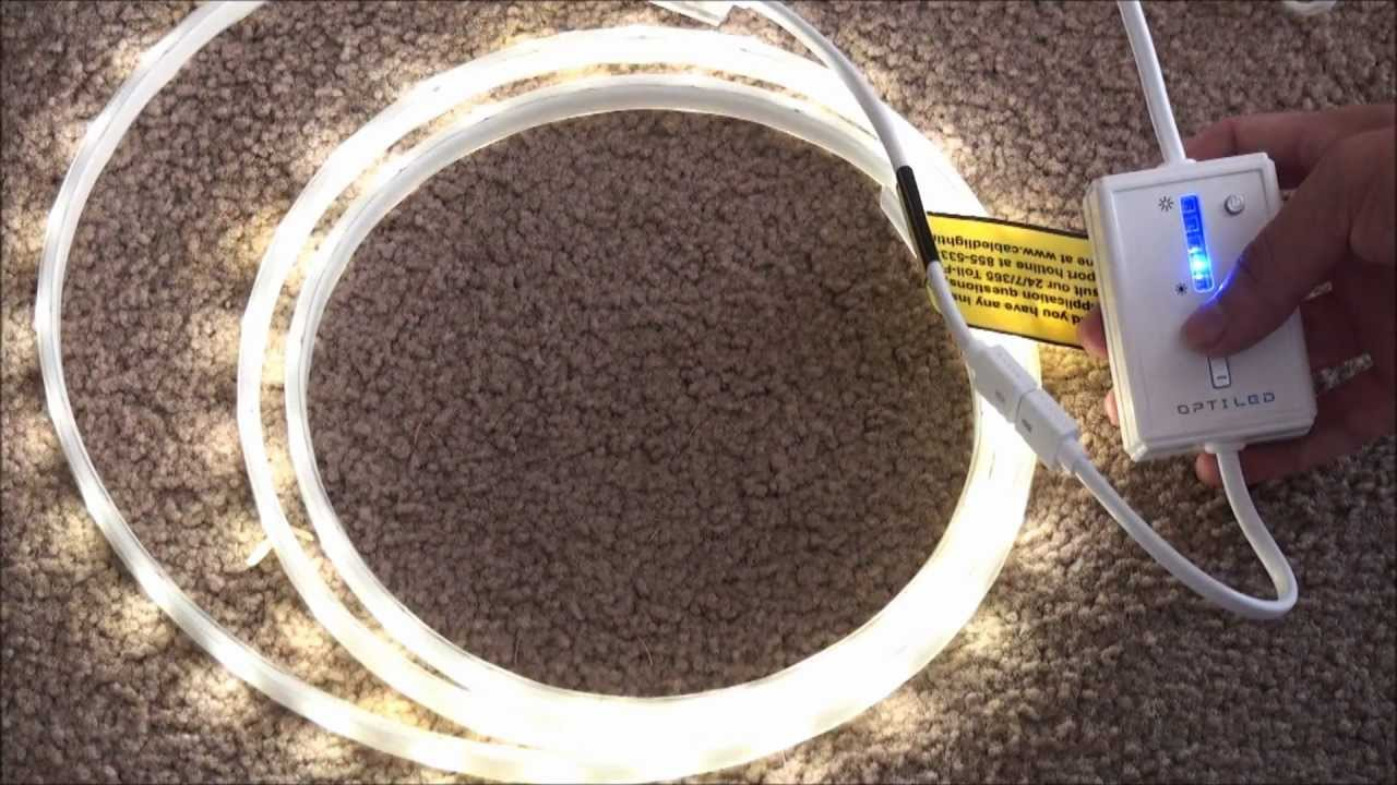 Led Light Strips At Home Depot Cabled 6 Ft Led Ribbon Light Kit Unboxing Installation