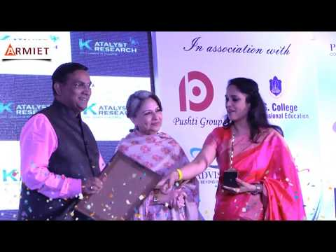 ARMIET - Award winning Engineering and MMS college in Thane (ARMIET Trustee recieving award)