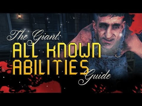 Black Ops 2 Zombies - Buried! The Giant - All known Abilities Guide