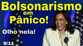 """Kamala: o pavor de Bolsonaro! O superpoder dessa mulher! O """"Mick Jagger de tanga"""" aniquila """"amigos""""!"""
