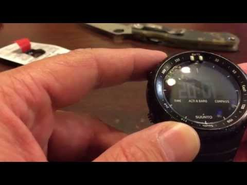 Suunto Core All Black battery change