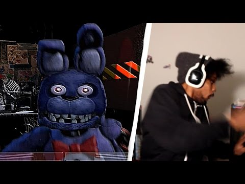 I FELL OUT MY CHAIR!! | Five Nights At Freddy