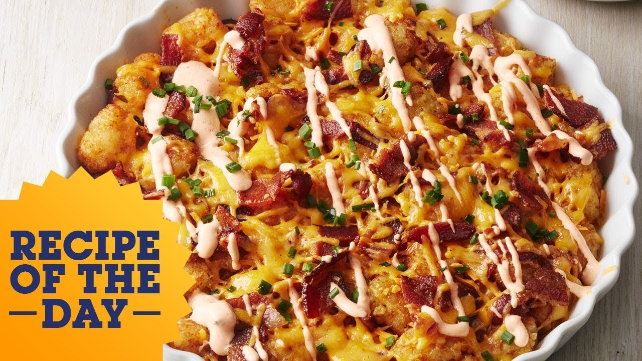 Recipe of the day cheesy bacon tater tot pie food network youtube recipe of the day cheesy bacon tater tot pie food network forumfinder Choice Image