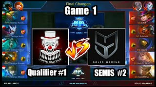 Game1 Solid Gaming VS WRS Alliance MPL-PH S2 (Qualifier 1 Semifinals 2) Best of 3