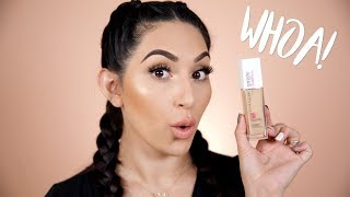 NEW MAYBELLINE SUPERSTAY FULL COVERAGE FOUNDATION | FIRST IMPRESSION & REVIEW | BEAUTYYBIRD
