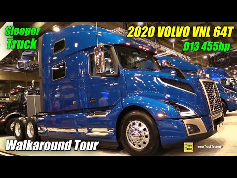 2019 Volvo VNL 64T 860 D13 455hp Sleeper - Exterior And Interior Walkaround - 2019 Expocam Montreal