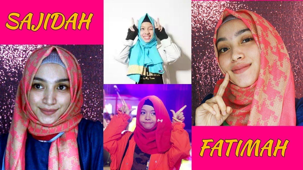 Updated Tutorial Hijab Sajidah Dan Fatimah Halilintar Youtube