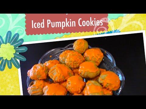 Iced Pumpkin Cookies (Marwah's Kitchen-2016)