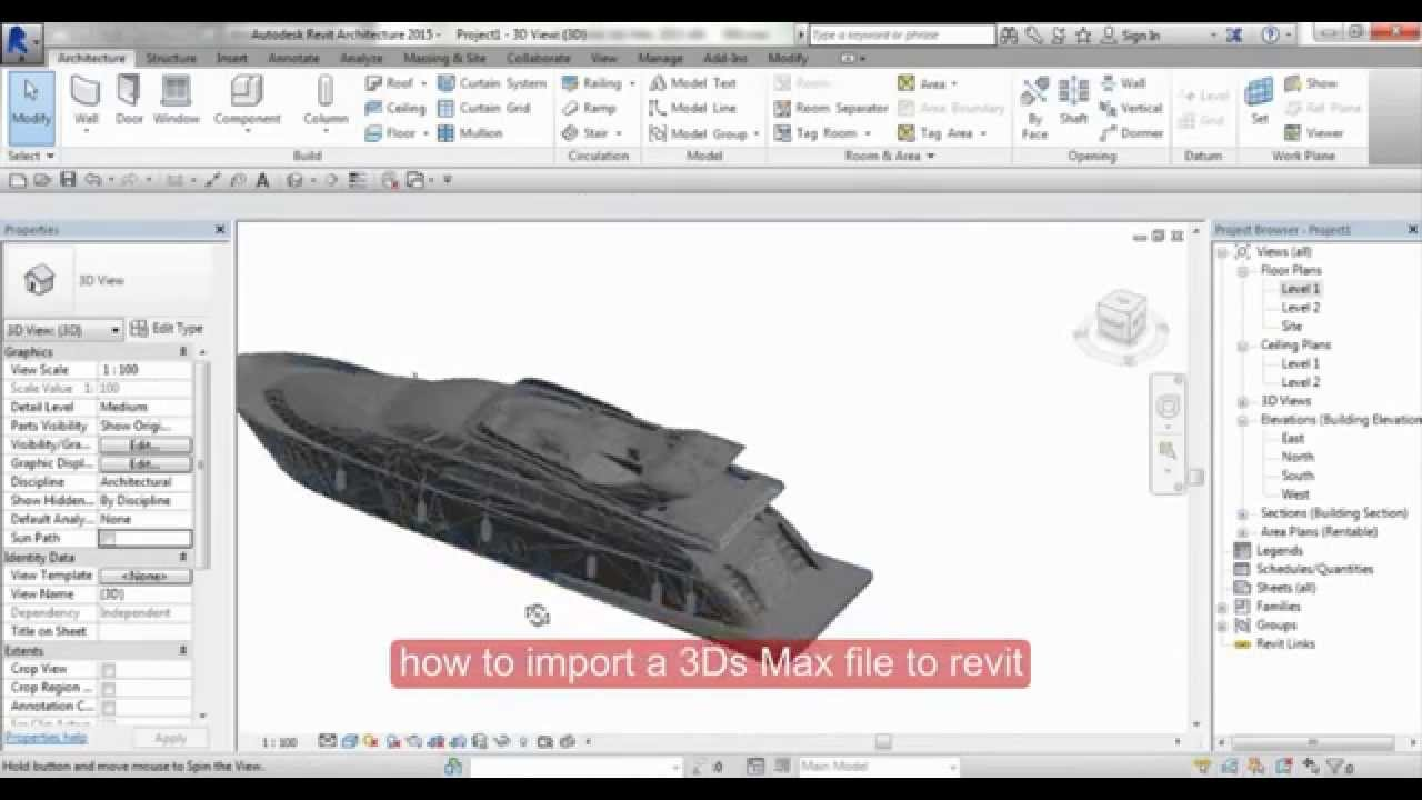 How To Import A 3ds Max File To Revit Youtube