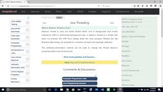 What is Daemon thread in Java javapedia net