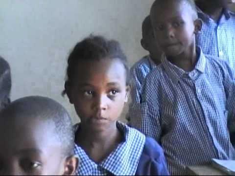 School project for orphaned children in Matopeni slum, Kenya