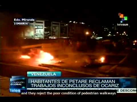 Venezuelans denounce lack of water in area governed by the opposition