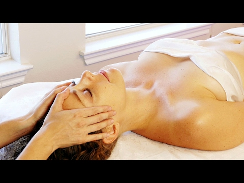Soothing Scalp, Face & Neck Massage Tutorial, How to, HD ASMR Soft Spoken Voice & Relaxing Music