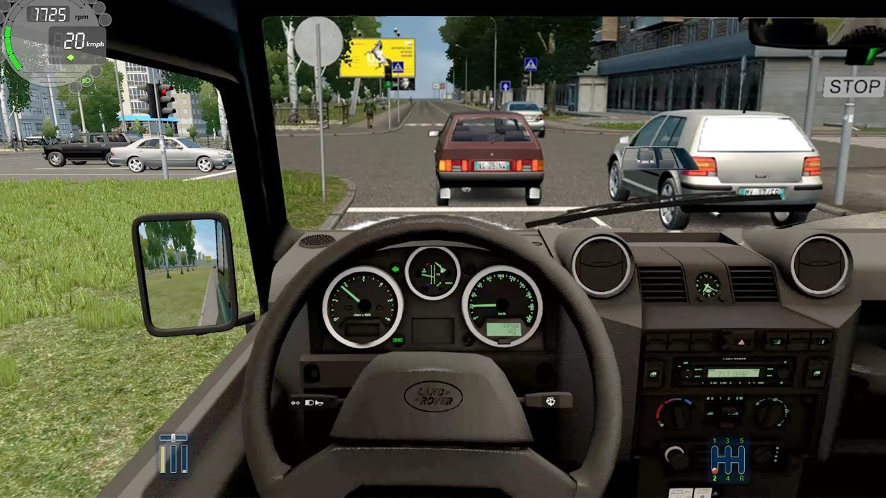 City Car Driving -  Land Rover Defender 90 TD | Normal Driving