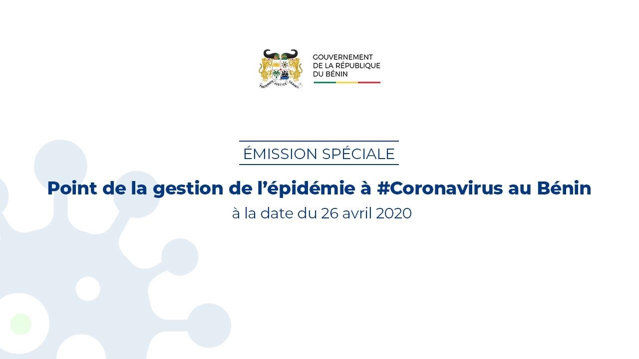 Emission spéciale : Point de la gestion de l'épidémie à #Coronavirus au Bénin