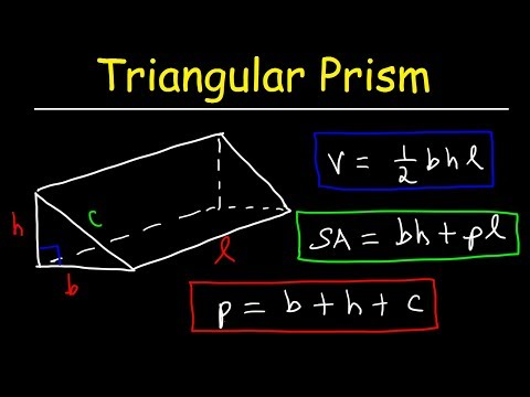 Triangular Prism - Volume, Surface Area, Base and Lateral Area Formula, Basic Geometry