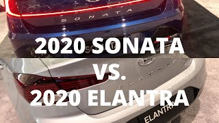 2020 Hyundai SONATA vs. ELANTRA Comparison: First Look Side-by-Side Impression Review