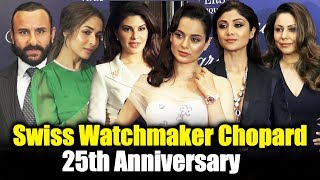 Saif Ali Khan, Jacqueline, Kangana At 25th Anniversary of Swiss Watchmaker Chopard For Happy Sport