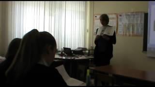 Урок английского языка в 8А классе.
