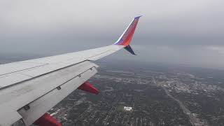 Southwest Airlines Boeing 737 MAX 8 landing in Orlando, Flordia