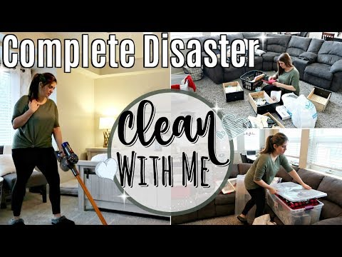 COMPLETE DISASTER!! ULTIMATE CLEAN WITH ME 2018 :: ALL DAY SPEED CLEANING MOTIVATION ::SAHM CLEANING