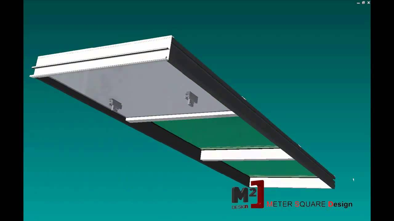 Meter Square Design Curtain Wall Unitized system simulation