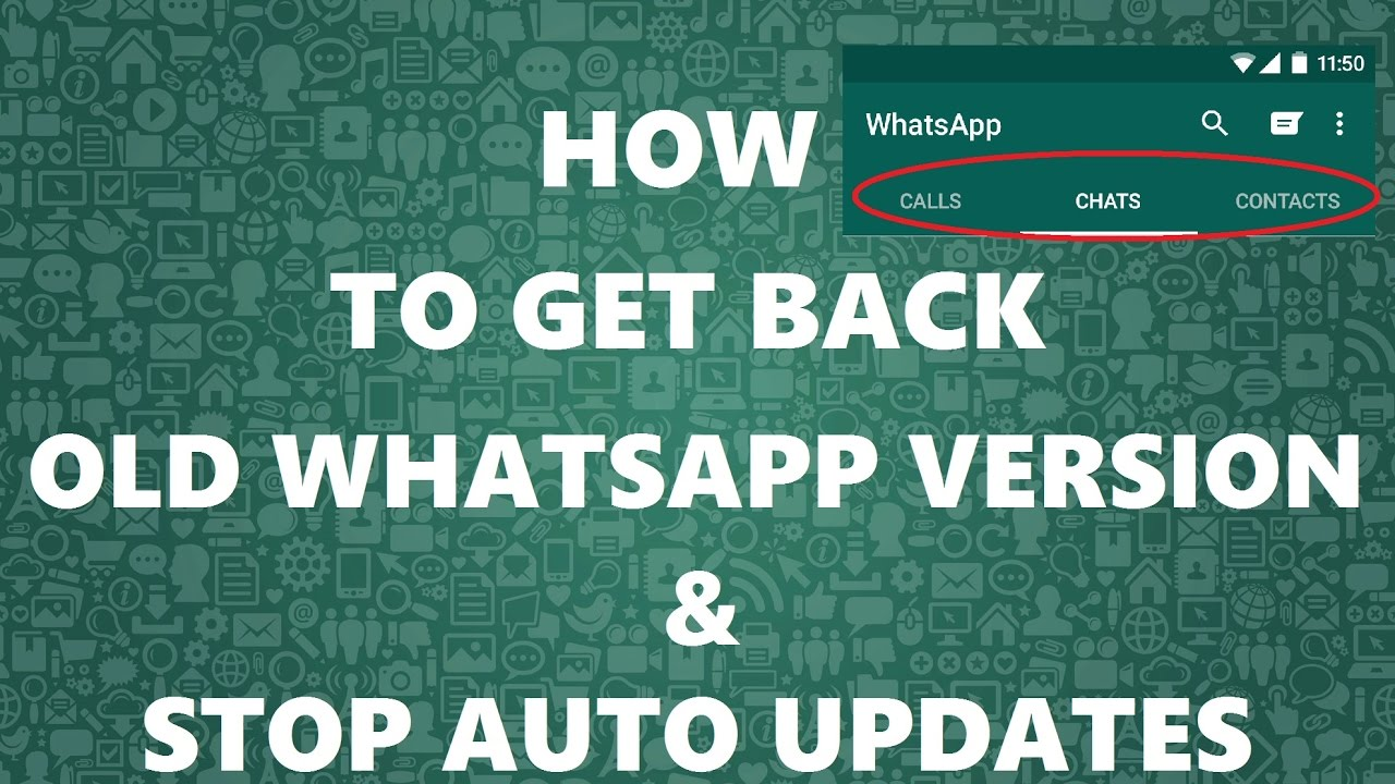 how to use old version of whatsapp without updating