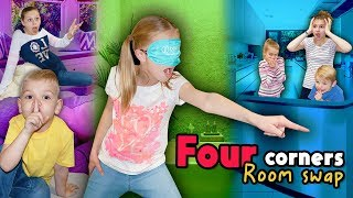 Four Corners Room SWAP!! Tannerites 4 Corners Blindfold GAME!