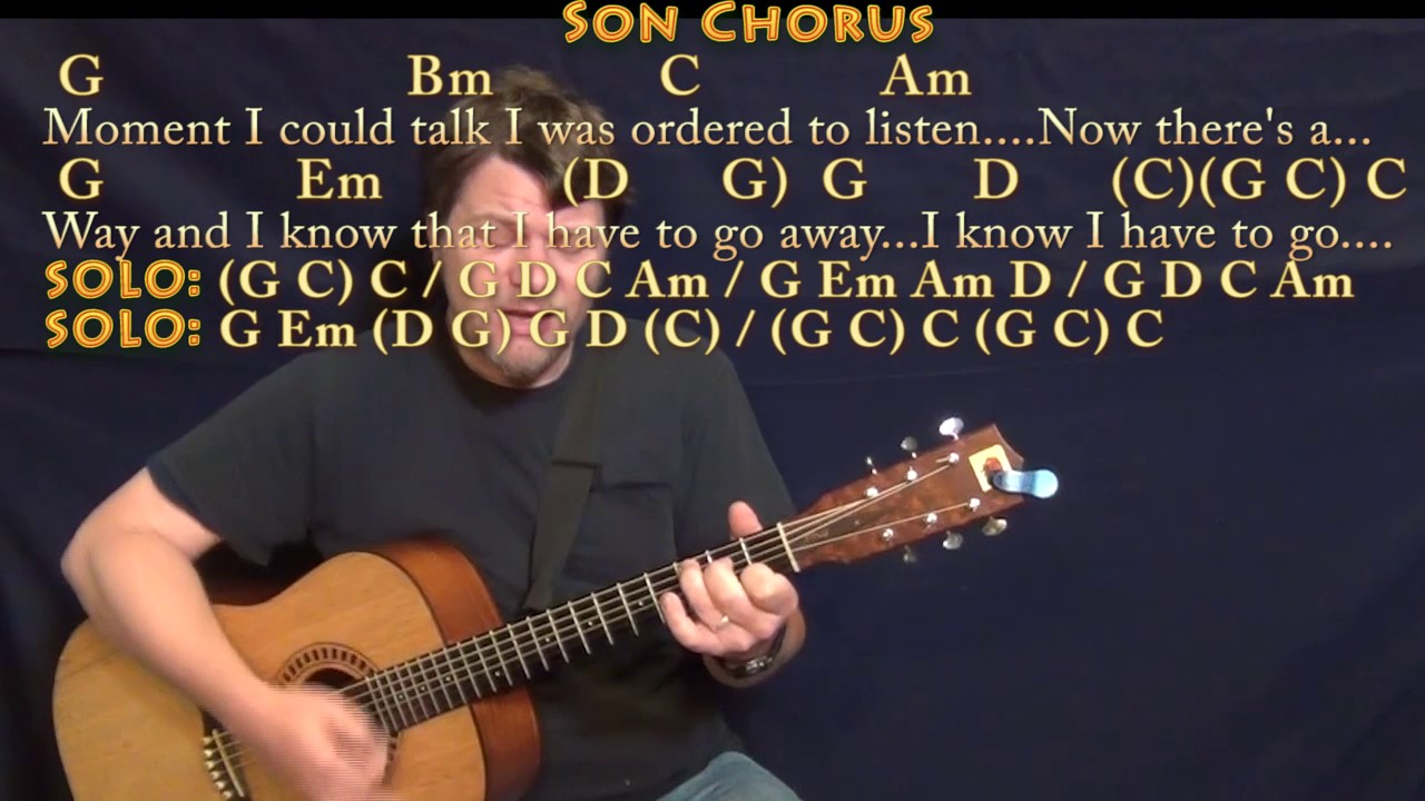 Father And Son Cat Stevens Strum Guitar Cover Lesson With Chords